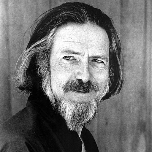 Headshot of Alan Watts via Wikimedia Commons