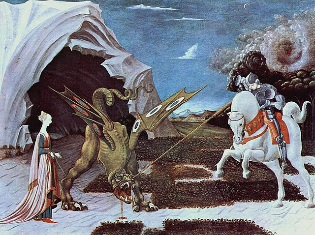 "Paolo Uccello's ""St. George and the Dragon."" (Public domain)"