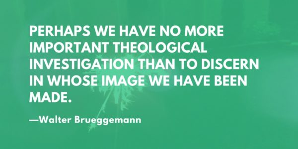 Perhaps we have no more important theological investigation than to discern in whose image we have been made. —Walter Brueggemann
